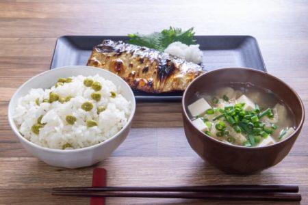 豆ごはん定食 バランスの良い食事