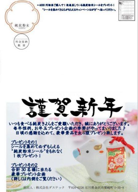 純炭粉末公式専門店 お正月プレゼントDM